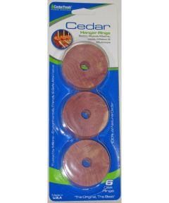 Cedar Hanger Rings, 6 Pack