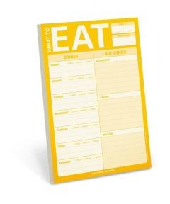 What to Eat Meal Planning Writing Pad