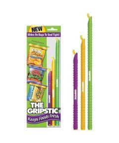 GRIPSTIC Food Bag Sealer, Multi-Color & Size 3-Pack