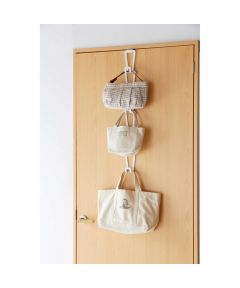 Hanging Chain Joint Bag & Accessory Hangers with 6 Hooks, White