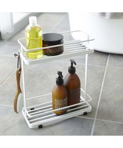 Tower Standing 2-Shelf Bath Storage Rack, White
