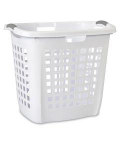 22-1/4 Inch White Plastic Ultra Easy Carry Hamper