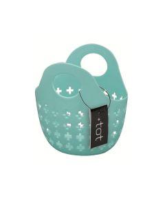 Tot Mini Plastic Tote Basket, Blue, 6x5x3 Inches
