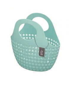 Tot Plastic Tote Basket, Blue, 10x10x5 Inches