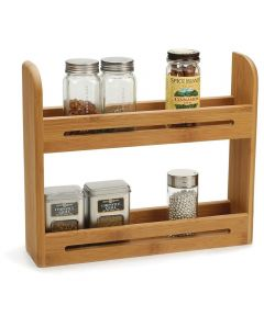 Bamboo Table/Wall Spice Rack