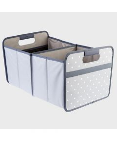 Classic Large Foldable Storage Box in Stone Gray with Dots