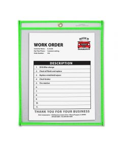 Neon Shop Clear Ticket/Document Holder, Green