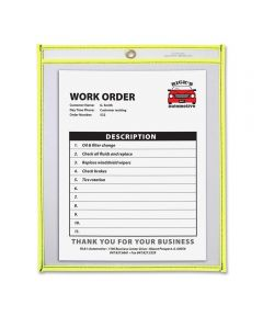 Neon Shop Clear Ticket/Document Holder, Yellow