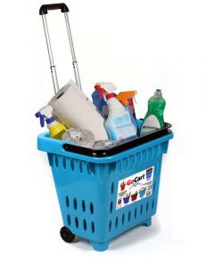 GoCart Rolling Shopping Basket, Turquoise