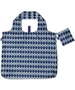 Jai Navy Blu Bag Reusable Shopping Bag with Storage Pouch