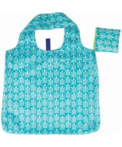 Sea Turtle Ocean Blu Bag Reusable Shopping Bag with Storage Pouch