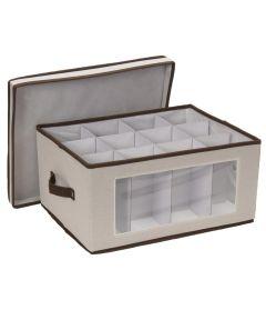 Vision Canvas Wine Glass Storage Chest