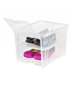 Easy Access Tall Shoe Box, Clear, Ventilated