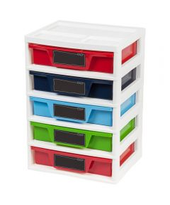 5-Drawer Activity Chest, Dark Colors