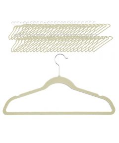 Velvet Touch Suit Hanger, 50-Pack, Ivory Color