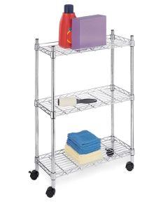 Chrome 3-Tier Supreme Laundry Cart