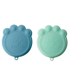 ORE' PET Paw Can Cover Set of 2, Blue