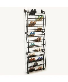 36-Pair Over-the-Door Shoe Rack, Bronze
