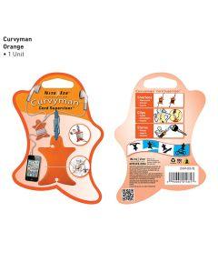 Curvyman Earbud/Headphone Cord Supervisor, Orange