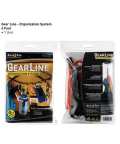 4-Foot GearLine Hanging Organization System With Gearline/Gear Ties/S-Biners