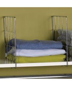 Chrome Shelf Dividers, Set of 2
