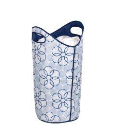 Softside Laundry Hamper with Mesh-Top Closure, Magic Rings Design