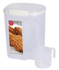 KLIP IT 13.7 Cup Flour Container With Measuring Cup