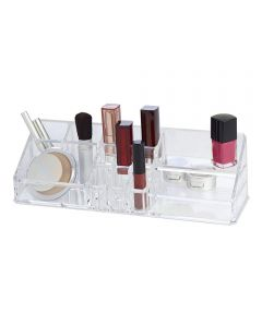 Clearly Chic 14-Compartment Cosmetic Organizer