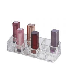 Clearly Chic 12-Compartment Lipstick Organizer