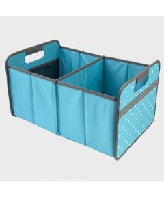 Classic Large Foldable Storage Box in Azure Blue with Dots