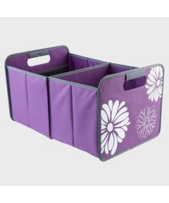 Classic Large Foldable Storage Box in Purple with Flowers