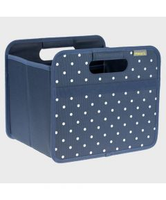 Classic Small Foldable Storage Box in Marine Blue with Dots