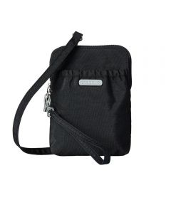 Bryant Pouch Bag with Adjustable Strap & RFID Protection, Black
