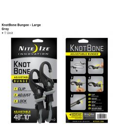 Size #9 KnotBone Adjustable Bungee Cord With Carabiner Clips