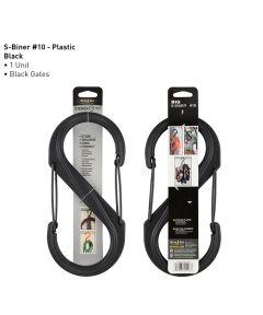 Size #10 S-Biner Plastic Carabiner, Black