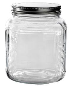 2 Quart Clear Glass Cracker Jar