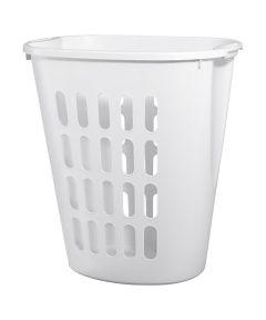 Sterilite Plastic Open Laundry Hamper, White