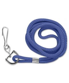 Standard Rope Lanyard with Metal Clip, Blue