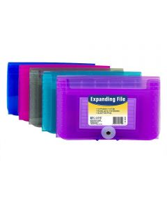 13 Pocket Coupon Size Expanding File, Assorted Colors
