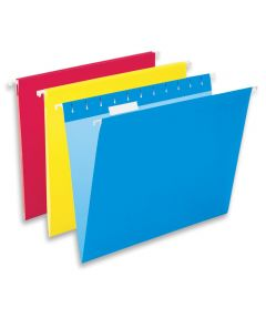 Hanging Letter Size File Folders, 10 Pack, Assorted Colors