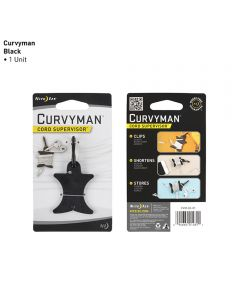 Curvyman Earbud/Headphone Cord Supervisor, Black