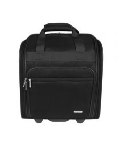 15 Inch Wheeled Underseat Carry-On Travel Bag, Black