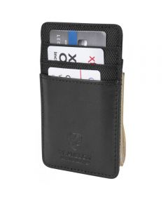 Money Clip Wallet with RFID Protection, Black