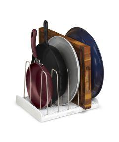 StoreMore Adjustable Cookware Rack Organizer