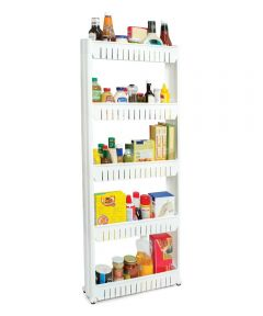 5-Tier Slim Slide-Out Rolling Pantry Storage