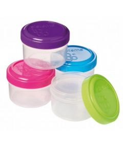 Dressing To Go Food Containers, Multi-Color, 4 Pack