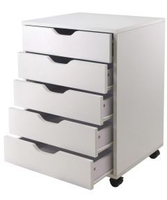White 5 Drawer Halifax Cabinet, 19.2 x 15.98 x 26.3 Inches