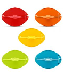 Savel Flexible Food Saver for Cut Wedges / Halves / Wedge-Outs, Assorted Colors