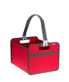 Classic Medium Foldable Storage Box Bundle with Carrying Strap, Hibiscus Red