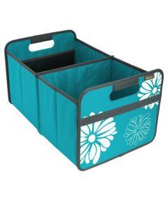Classic Large Foldable Storage Box, Azure Blue Flowers